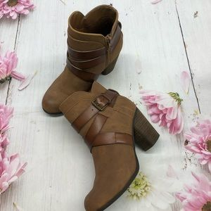 Shoes - Madden NYC Brown Booties Size 6.5